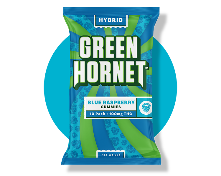 Blue Raspberry Cannabis Gummy Green Hornet