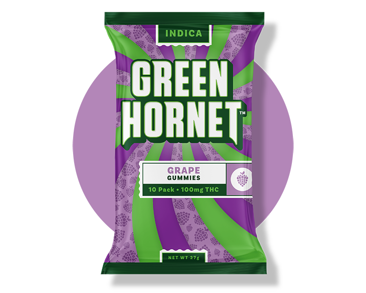 Indica Grape THC Gummy Green Hornet
