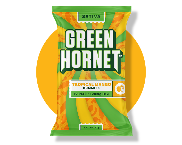 Tropical Mango Edible Gummy Green Hornet