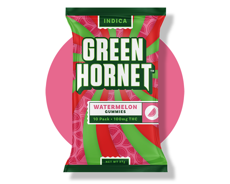 Watermelon Indica THC Gummy Green Hornet
